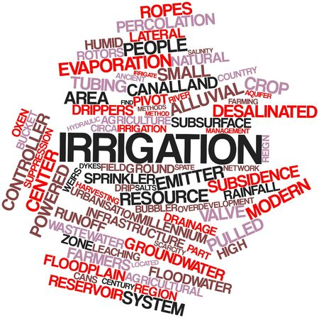 sprinklers: Abstract word cloud for Irrigation with related tags and terms