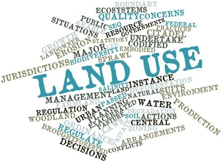 land use: Word cloud astratto per terra usare con tag correlati e termini