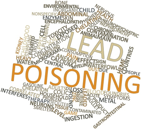 Abstract word cloud for Lead poisoning with related tags and terms Stock Photo - 16499065