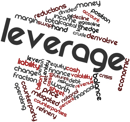 Abstract word cloud for Leverage with related tags and terms Stock Photo