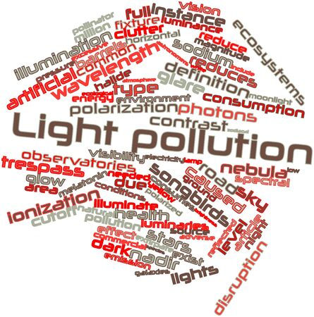 photons: Abstract word cloud for Light pollution with related tags and terms