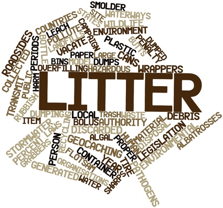observational: Abstract word cloud for Litter with related tags and terms