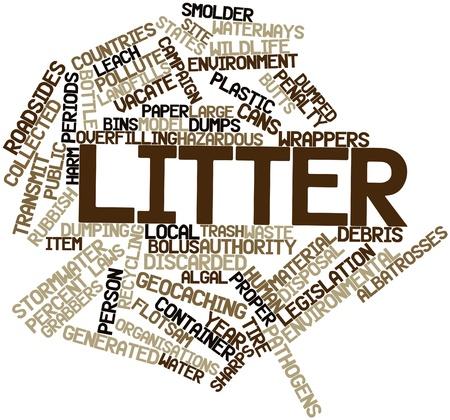 observational: Nube palabra abstracta para basura con etiquetas y t�rminos relacionados Foto de archivo
