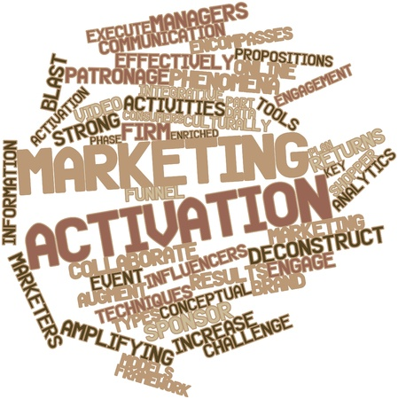 evaluated: Abstract word cloud for Marketing activation with related tags and terms