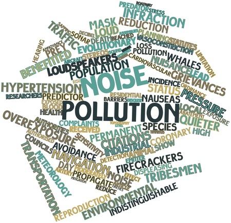 contaminacion acustica: Nube palabra abstracta por contaminaci�n ac�stica con las etiquetas y t�rminos relacionados