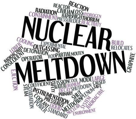 Abstract word cloud for Nuclear meltdown with related tags and terms photo