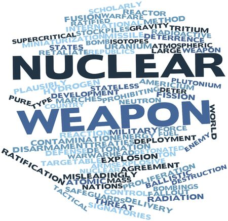 nuclear weapons: Abstract word cloud for Nuclear weapon with related tags and terms