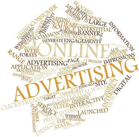contextual: Nube palabra abstracta para la publicidad en l�nea con las etiquetas y t�rminos relacionados Foto de archivo