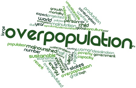 halved: Abstract word cloud for Overpopulation with related tags and terms