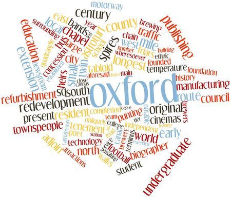 acquired: Abstract word cloud for Oxford with related tags and terms