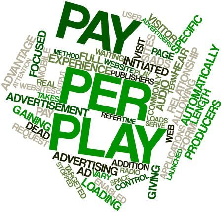 Abstract word cloud for Pay per play with related tags and terms Stock Photo - 16498680