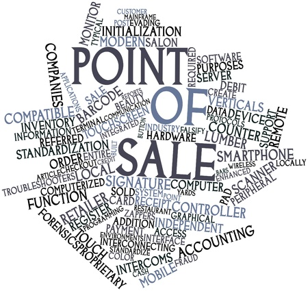 computerized: Abstract word cloud for Point of sale with related tags and terms