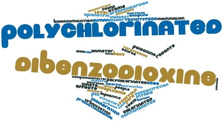 Abstract word cloud for Polychlorinated dibenzodioxins with related tags and terms Stock Photo - 16498306