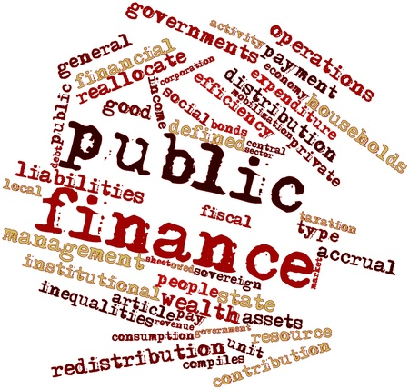 imposed: Abstract word cloud for Public finance with related tags and terms