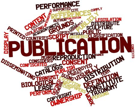 Abstract word cloud for Publication with related tags and terms Stock Photo - 16498759