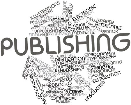 publish: Abstract word cloud for Publishing with related tags and terms