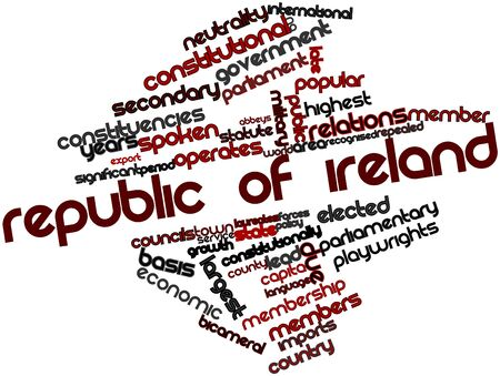 dominion: Abstract word cloud for Republic of Ireland with related tags and terms