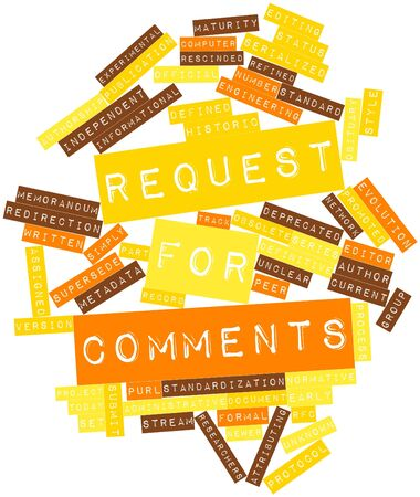 comments: Abstract word cloud for Request for Comments with related tags and terms