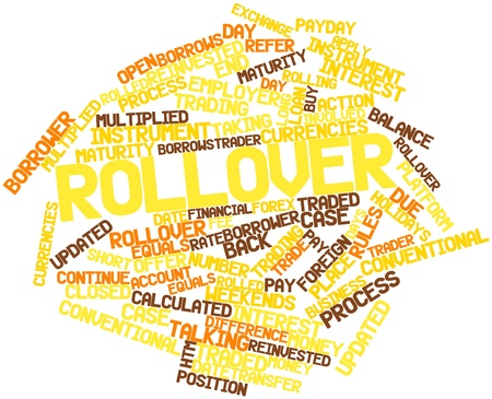 payday: Abstract word cloud for Rollover with related tags and terms