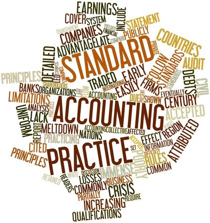 retained: Nube palabra abstracta para la práctica contable estándar con etiquetas y términos relacionados Foto de archivo