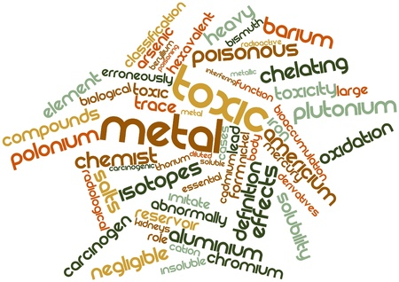 Abstract word cloud for Toxic metal with related tags and terms Stock Photo - 16498367