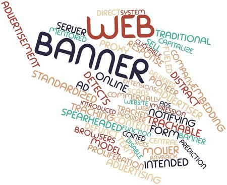advertiser: Abstract word cloud for Web banner with related tags and terms