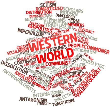 hipotesis: Nube palabra abstracta para el mundo occidental, con etiquetas y términos relacionados