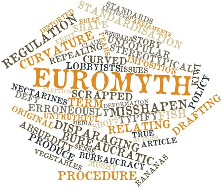 parliaments: Abstract word cloud for Euromyth with related tags and terms Stock Photo