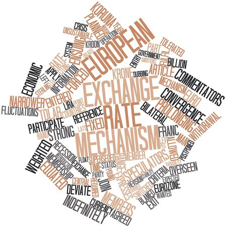 Abstract word cloud for European Exchange Rate Mechanism with related tags and terms photo
