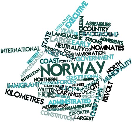Abstract word cloud for Norway with related tags and terms Stock Photo - 16498919