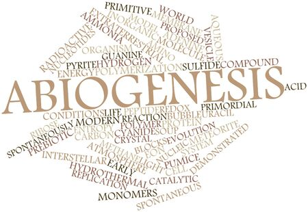 entropy: Abstract word cloud for Abiogenesis with related tags and terms Stock Photo