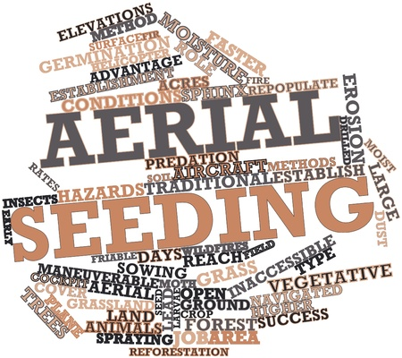 Abstract word cloud for Aerial seeding with related tags and terms