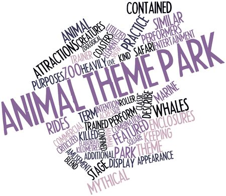 time keeping: Abstract word cloud for Animal theme park with related tags and terms