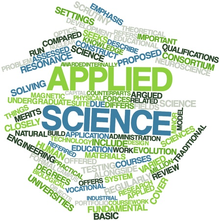 undergraduate: Abstract word cloud for Applied science with related tags and terms