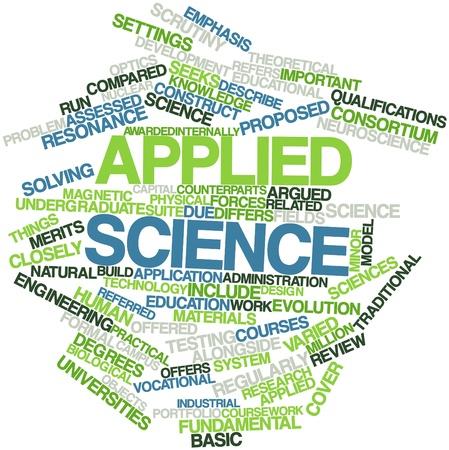 resonancia magnetica: Nube palabra abstracta para la ciencia aplicada con etiquetas y términos relacionados