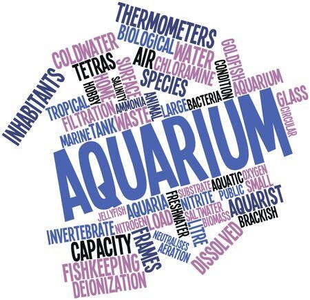 dissolved: Word cloud astratto per Acquario con tag correlati e termini