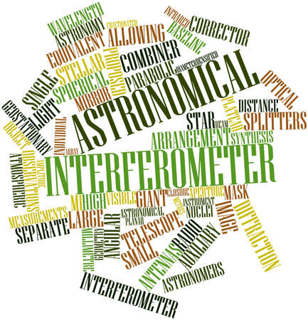 millimetre: Abstract word cloud for Astronomical interferometer with related tags and terms
