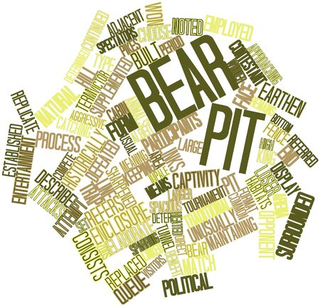time keeping: Abstract word cloud for Bear pit with related tags and terms