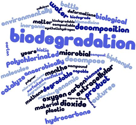 extracellular: Abstract word cloud for Biodegradation with related tags and terms