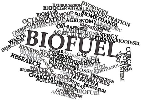 world agricultural: Abstract word cloud for Biofuel with related tags and terms