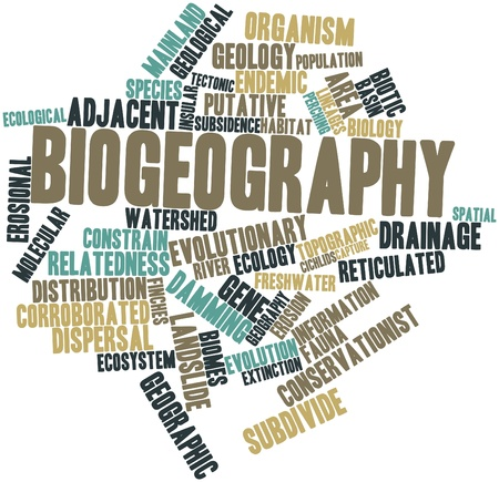 watershed: Abstract word cloud for Biogeography with related tags and terms