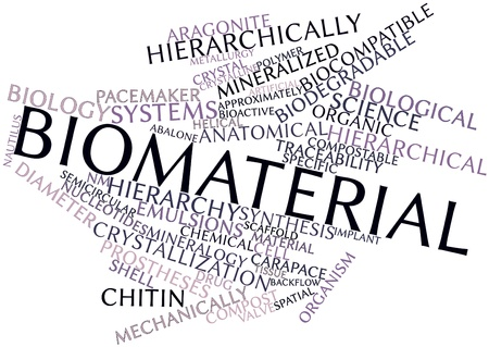 mineralized: Abstract word cloud for Biomaterial with related tags and terms