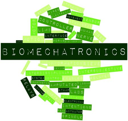 Abstract word cloud for Biomechatronics with related tags and terms photo