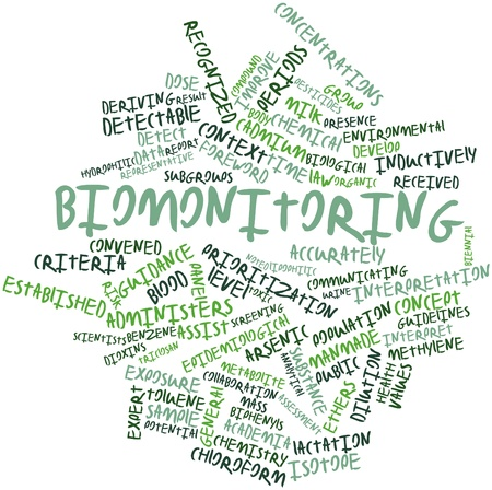 arsenic: Abstract word cloud for Biomonitoring with related tags and terms