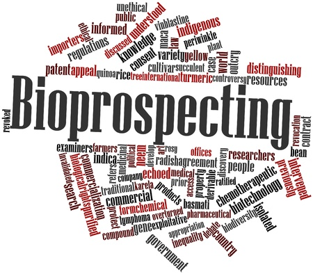 distinguishing: Abstract word cloud for Bioprospecting with related tags and terms