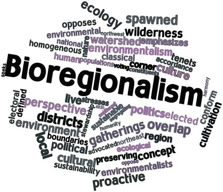 the local characteristics: Abstract word cloud for Bioregionalism with related tags and terms
