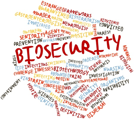 Abstract word cloud for Biosecurity with related tags and terms