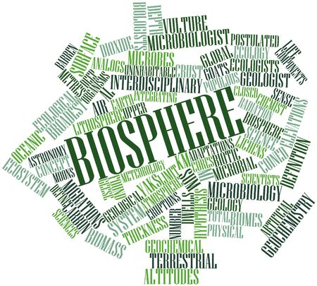 Abstract word cloud for Biosphere with related tags and terms photo