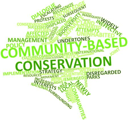 emerged: Abstract word cloud for Community-based conservation with related tags and terms