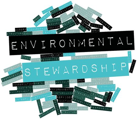 resilience: Abstract word cloud for Environmental stewardship with related tags and terms
